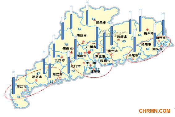 2013年广东省薪酬地图图片